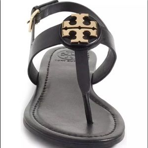 🌺Tory Burch Bryce Flat Thong Logo Leather Sandals